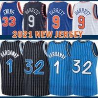 2021 New Shaquille Basketball Jersey 32 Mens Penny 1 Mesh Hardaway Tracy 1 McGrady Retro RJ 9 Barrett Pas cher Patrick 33 Ewing