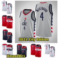 Herren City 2021 Edition 4 Russell Westbrook Swingman Jersey Authentic John 2 Wall Bradley 3 Becher Basketball Jersey mit Logo Tags
