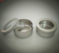 150g Alüminyum Kavanoz Şeffaf Pencere Kapaklı Alüminyum Konteyner Pot Düğün Hediyesi Ambalaj Kutusu Teneke Metal Kutular, 24 adet / lotgood qualtty
