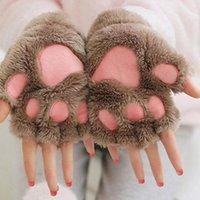 Fem fingrar handskar vinterkvinnor 2021 Mode för damer armbandsarm varmare stickat tangentbord lång fingerlös mitten försäljning objekt # yl5