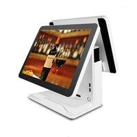 أنظمة تشغيل محطة ويندوز 15 بوصة + 15 بوصة نقطة شاشة ثنائية للبيع للبيع بالتجزئة 1