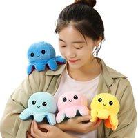 لعبة فليب الأخطبوط القطيفة على الوجهين، اللعب البحرية اللعب الهدايا الإبداعية للأطفال للأطفال