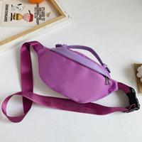 어린이 가방 소년 소녀 솔리드 컬러 메신저 가방 키즈 새로운 후크 패턴 허리 가방 아이 패션 모든 일치하는 가방 핸드백