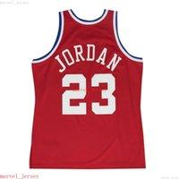 Custom genäht Michael Mitchell Ness Rot 1989 All-Star Jersey XS-6XL Mens Throwbacks Basketball Trikots Günstige Männer Frauen Jugend