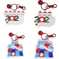 PVC Ev Christmases Serisi kolye Üç Altı Kişi DIY Tam adı Blessing Kelimeler Noel ağacı Süsler 2020 7CH J2