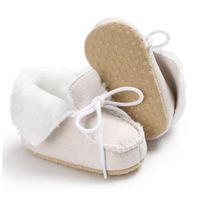 جديد طفل الفتيان بنات أحذية الثلوج الشتاء الدافئ الوليد الأول ووكر الأحذية لينة وحيد المضادة للانزلاق الرضع الأخفاف أحذية 0-18 شهر