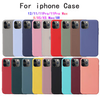 Pour iPhone 12 Mini XS Pro Max XR Soft Case pour iPhone 11 7 8 Plus Coque Silicone Liquide Cover Cooky Coque Capa Capa