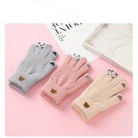 Пять пальцев перчатки XPay зимние женщины мягкие бархатные флисовые толстые теплые ветрозащитные сенсорные экраны