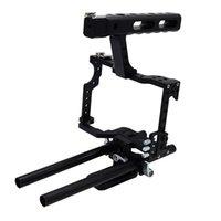 Cage caméra stabilisateur Kit de montage pour Panasonic GH4 Sony A7S A7 A7R A7RII A7SII poignée Rig système avec Rod