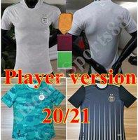 Novo 20 21 Versão Jogador Argélie Maillot de Futebol Camisas 2020 2021 Jerseys de futebol Home Mahrez Brahimi Bennacer 2 estrelas Argélia Homens Uniforme