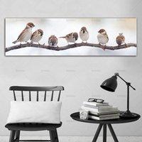 Cuadro de la pared de lona de arte de la pintura de impresión Pájaros en árbol impresiones cuadro del arte de la pared Pintura Decoración Para Salón ninguna trama