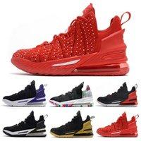 Giyilebilir Üniversite Kırmızı La James 18 Erkek Basketbol Ayakkabı James Gang Siyah Beyaz Bred 18s Eğitmenler Yumuşak Açık Erkekler Spor Sneakers 7-12