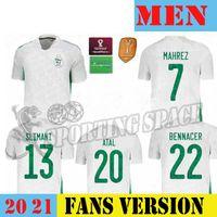 Top Thai Maillot Cezayir Oyuncu Sürüm 2020 2021 Futbol Forması Eve Awai Mahrez Bounedjah Feghouli Bennacer Atal 20 21 Cezayir Maillot de F