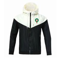 2020 Maroc Team National Team Sweat à capuche à capuche Veste à coupe-vent d'hiver Zipper à glissière rapide Sports à capuche à capuche Soccer Veste Football Jacket
