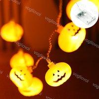 Halloween String Lights 1.5m 2m 3m 6m 3V Pumpkin Sorriso 3500k illuminazione per vacanze per la decorazione della barra a domicilio DHL