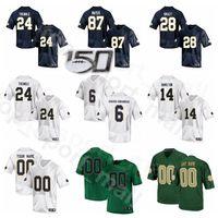 NCAA Notre Dame Fighting Irish College Football 87 Michael Mayer Jersey 24 Tremei 14 Kyle Hamilton 6 Jeremias Owusu-Koramoah 28 Tariq Bracy