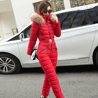 Leiouna Casual Slim Taille Plus Onesies Mode d'hiver de Parka épaisse ceinture femmes manteau femmes capuche Manteaux chaud Veste 201015 Sports d'Hiver