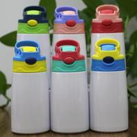 12 أوقية التسامي سيبي كوب 350 ملليلتر زجاجة ماء الاطفال مع غطاء القش المحمولة الفولاذ المقاوم للصدأ شرب بهلوان ل طفل FY4309 2021