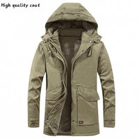Arrivals New Dickes Fleece Warm Parkas Jacken Herren-Bekleidung Casual Men Parka-Mantel Winddichtes Kapuzenjacke Windjacke