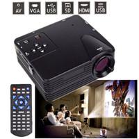 H80 Portable Mini proiettore LED Home Theater Proiettore Porta USB SD AV AV HDMI 600 Lumen 1080p HD Proiettore portatile VGA Cable 1pcs / lot