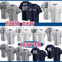 Custom Mariano 42 Rivera2020 New Aaron 99 juger Baseball Jersey Derek 2 Jeter Giancarlo 27 Stanton CC 52 Sabathia Bernie 51 Williams Frazier