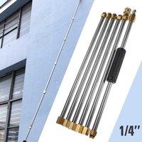 6pcs 자동차 고압 세척기 지팡이 확장 교체 스프레이 1/4 빠른 연결 물 랜스 액세서리 1