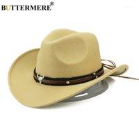 Large frère chapeaux Buttermere Western Cowboy Chapeau Femmes hommes Vache Monsieur Jazz Sombreros Hombre Cap Vintage Automne Hiver Lady Cowgirl Ha