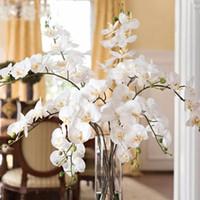 1pc 인공 꽃 진짜 터치 인공 나방 난초 나비 난초 새로운 집 홈 웨딩 페스티벌 장식