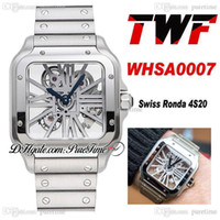 TwF Tom Holland Dumont Skeleton WHSA0007 Swiss Ronda 4S20 Quarz Herrenuhr Edelstahl Armband Best Edition Ptcat PureTime A262