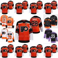Philadelphia Flyers 2021 Reverse Retro Claude Giroux Kevin Hayes Carter Hart Joel Farabee Jakub Voracek Lindblom Couturier Frost Jersey