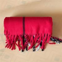 Designer Schals Winter Schal Frauen Decke karierte Schal weibliche Tücher und Schals warme Frauen kurz Quaste Tippet