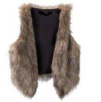Gilet da donna Donna inverno inverno caldo senza maniche Casual Faux Fur Glest Gilet Giacca Cappotto1