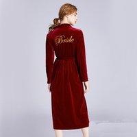 Luxuxbraut Bademantel Designer Home Hotel Nachtwäsche Marke Bequeme Frauen Robe für Spa Bridesmaid Nachtwäsche Cardigan