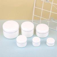 20/30/50/100 / 150 / 200g Weiß Kunststoff nachfüllbarer Behälter mit leerem Deckel leerer nachfüllbarer kosmetischer Plastikgläser Lagerbehälter