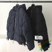 Riflessione invernale Down Coats Men Donne 1 Top Quality Zipper Spesso Cappotto di Sicurezza Collo del bottone di sicurezza all'interno dell'etichetta del tag