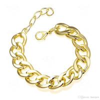 Braccialetti Charm braccialetto personalizzato Infinity sottile oro Bracciale Bracciali oro giallo 18 carati
