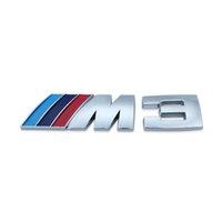 Silber und Black Metal-Aufkleber für BMW M Power Logo M3 M5 E30 E36 E39 E46 E60 E87 E90 F10 F20 F30 G01 G30 X1 X3 X5