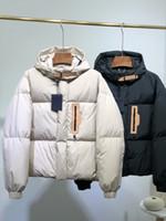 2020 Erkek Kış Coat Klasik Moda Popüler Kısa Stil Aşağı Ceket Rüzgar Geçirmez Klasik Yüksek Yoğunluklu Su Geçirmez Vitesi Asya Boyutu Aşağı Hoodies