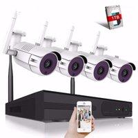 4CH 5MP Беспроводная безопасность Камеры Камеры CCTV WiFi NVR Kit 5MP IR Открытый Ночной Видение Камеры Главная Видеоизобразность1