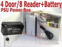 Panneau de contrôleur d'accès de 4 portes / 8 lecteur PCB +/- LI-BATTERI-BATTERIE TOUT BOITE D'ALIMENTATION DE L'ALIMENTATION + POWER PUISSANCE EN NOTI-IN-OUT QUATRE PORTE1