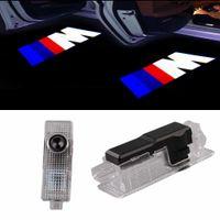 자동차 도어 LED 로고 프로젝터 고스트 섀도우 환영 조명 BMW M 3 5 6 7 Z GT X 미니 기호 엠 블 럼 호의 스텝 조명 키트 새로운 도착