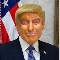 دونالد ترامب قناع العلوية أقنعة الدعائم مضحك مطاط الشهيرة المشاهير الملياردير تأثيري حفلة تنكرية زي ترامب قناع KIU88