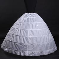 Одноместный размер высококачественный белый 6 обручей юбка на юбках юбка для свадебного платья для свадебного платья свадебные выпускные платья