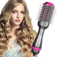 Pennelli per capelli elettrici 4 in 1 step Asciugatrice Air Pennello per la piastra per il pettine e asciugabiancheria Essiccatori Professional Tool1