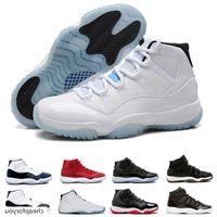Venda Por Atacado tênis 11 11s Prom Noite Basquete Sapatos para Homens Mulheres Cap e vestido Criado Concord Gym Vermelho Meia-noite Marinha Sneakers Drop Shipping