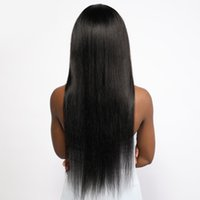 13*4 Lace Front Human Virgin With Baby Hair Glueless For Women Brazilian Straight Wigs Remy Pre Plucked Natural hairline