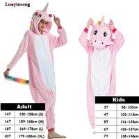 Inverno per bambini Nightwear Onesie Pigiama Bambini Bambini Unicorno Tuta Girls Cartoon Pigiama Panda Panda Flanella Sleepwear per le donne Pijamas