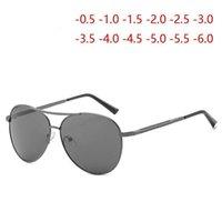 الانتهاء من النظارات الشمسية النظارات الشمسية الاستقطاب الرجال معدن القيادة النظارات القريبة Diopter SPH -0.5 -1.0 -1.5 -2.0 -2.5 T0 -6.01