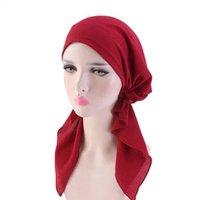 Beanie/Skull Caps Paris Braids Loosen Skullies Beanies Spring Autumn Brand Polyester Turban Hats For Women Ribbon Chemotherapy