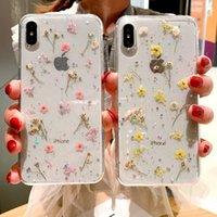 Fashion Cell Phone Case Real Flower Flower TPU Задняя крышка для iPhone 12 Pro Максимальный эпоксидный блеск